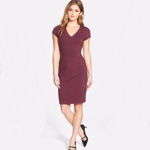 Halogen. V-Neck Ponte Sheath Dress